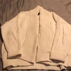 White shawl cardigan